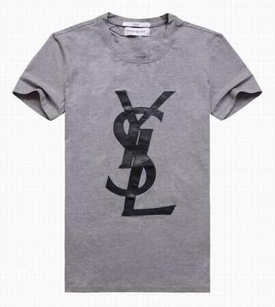 T shirt giorgio yves saint laurent femme yves saint for Yves saint laurent logo shirt